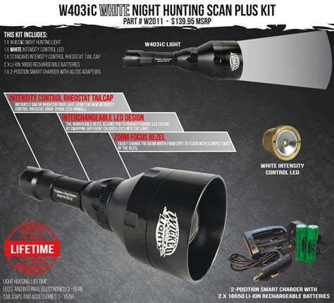 night light hunting supply wicked lights w403ic white scan plus night hunting light