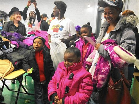 Winter Coat Giveaway - winter coat giveaway warms the body and the soul chicago tribune