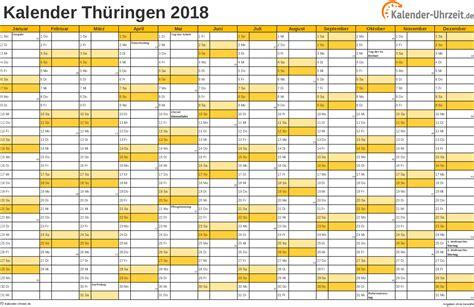Feiertage 2018 Th 252 Ringen Kalender