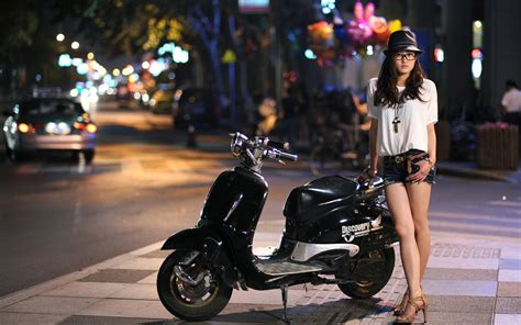 hot and sexy girls on stylish bike hd wallpaper images stylish mini jeans girl wallpaper best hd wallpapers