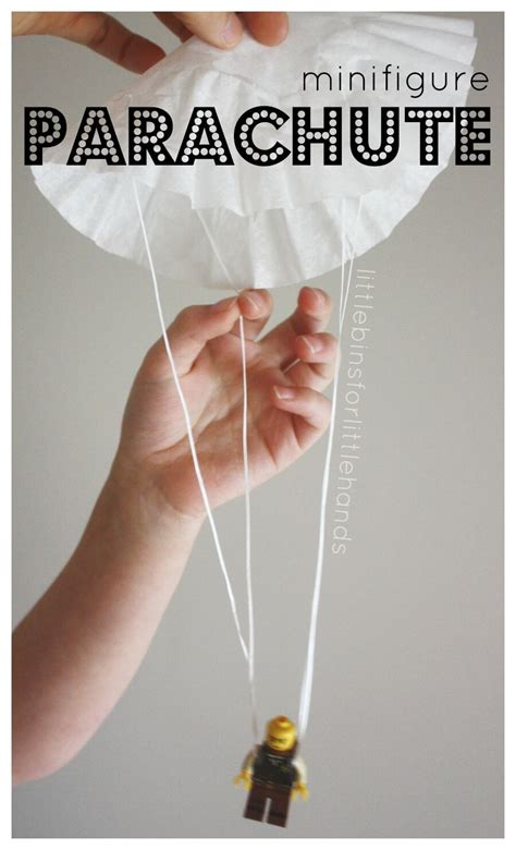 How To Make A Parachute Out Of Paper - coffee filter parachute lego minifigure parachute activity