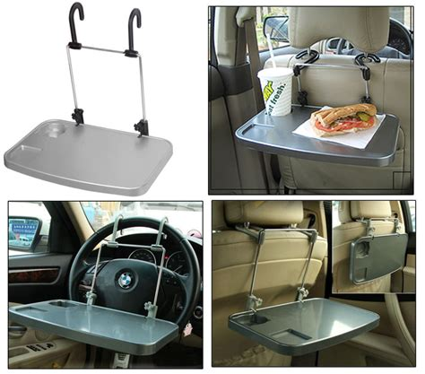Car Multifunction Foldable Seat Back Meal Table Meja Lipat Mobil new multi purpose car tray steering seat foldable desk stand laptop table ebay