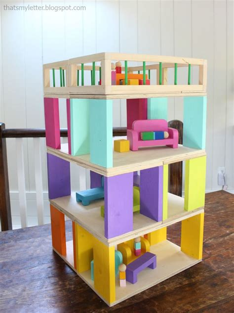 modular stackable dollhouse woodworking projects