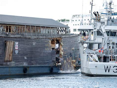 boat crash norway noah s ark survives collision with norwegian coast guard
