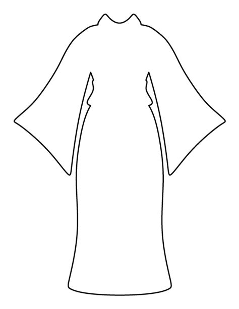 Kimono Pattern Template | kimono pattern use the printable outline for crafts