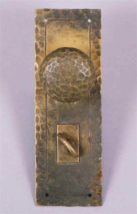 Door Knob Crafts by Arts Crafts Hammered Brass Door Knob Set C1910