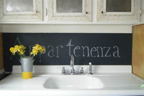 chalkboard backsplash chalk it up decorating your small space