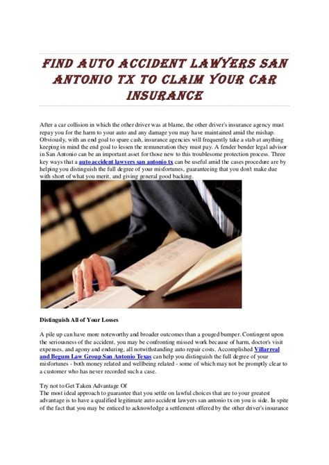 Auto accident lawyers tx to claim your car insurance