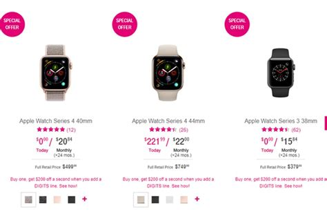 Apple Series 4 200 by Deal Buy An Apple Series 3 Or 4 And Get 200 A Second At T Mobile Phonearena