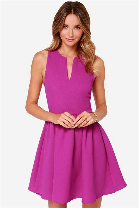 magenta dress sleeveless dress skater dress 49 00