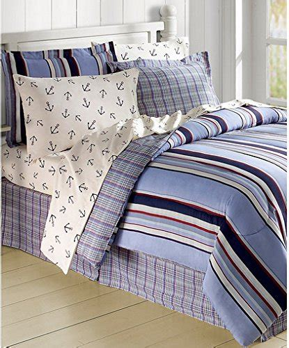 nautical bed sheets striped nautical anchors comforter set bed in a bag