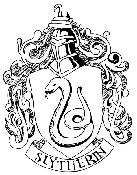 hogwarts house coloring pages hogwarts house crest black and white www imgkid com