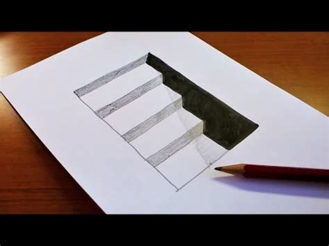 draw 3d easy how to draw 3d stairs for