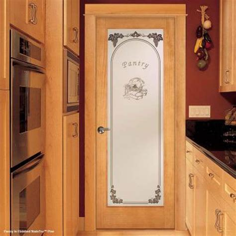 Frosted Glass Pantry Door Home Depot by Decorative Glass Pantry Unfinished Pine Interior Door Slab