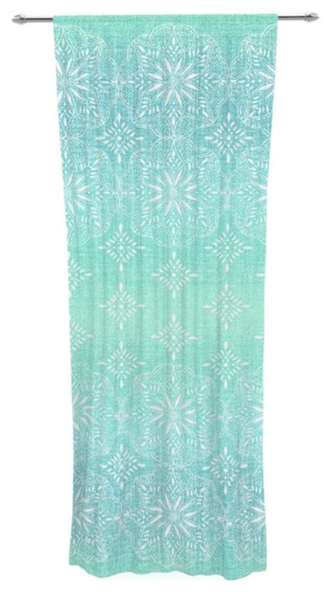 Aqua Sheer Curtains Tremel Quot Medallion Aqua Ombre Quot Blue Teal Decorative Sheer Curtain Contemporary Curtains