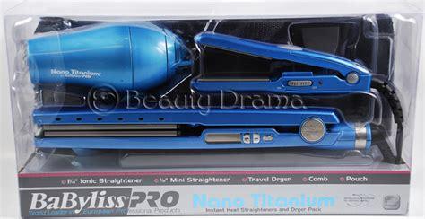 Babyliss Hair Dryer And Straightener Combo babyliss nano titanium 1 1 4 quot flat iron 1 2 quot mini flat iron dryer combo ebay