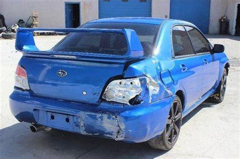crashed subaru wrx purchase used 2007 subaru impreza wrx turbo salvage