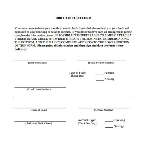 direct deposit form template word unique paychex direct deposit form