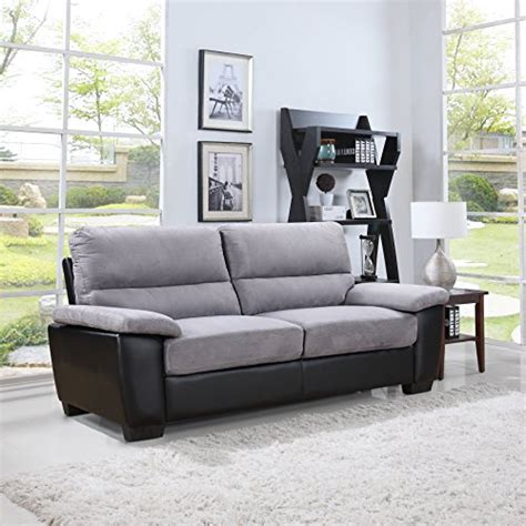 microfiber and leather couch divano roma classic soft microfiber and bonded leather