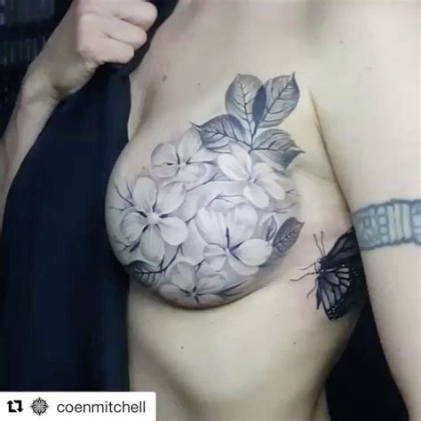 tattoo flower nipple repost coenmitchell all healed up mastectomy tattoo