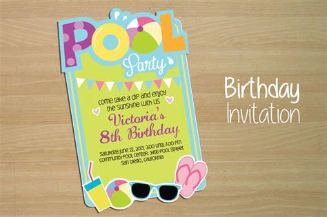 invitation pool party invitation templates on creative