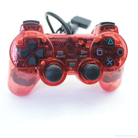 E Smile Gamepad Pc Dual Shock Controller sony ps2 wired transparent 2 dual shock color controller