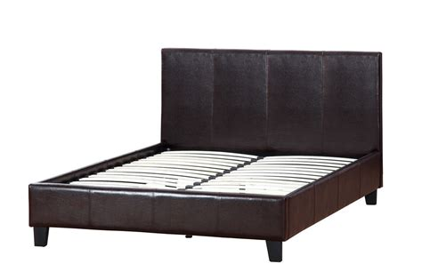 brown leather queen size bed steal a sofa furniture
