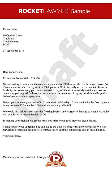 letter proposing  payment  instalments payment plan template letter