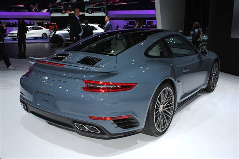 porsche graphite blue detroit 2016 porsche 911 turbo and turbo s gtspirit