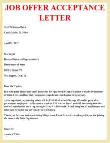 job offer acceptance letter template job offer acceptance letter letter pinterest job 10 acceptance letter templates free sample example