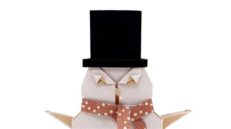 origami top hat for the snowman jo nakashima