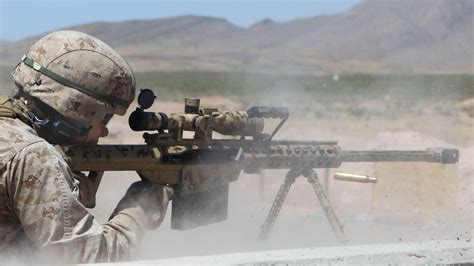 50 Bmg Sniper by Us Snipers Shooting With The Ultra Powerful M107 50 Cal
