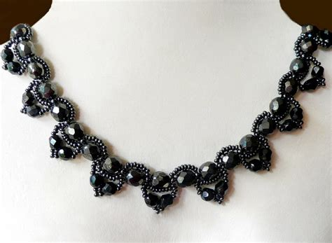 bead jewelry patterns free pattern for beaded necklace chantal magic