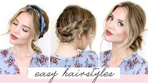 easy hairstyles  shortmedium length hair spring