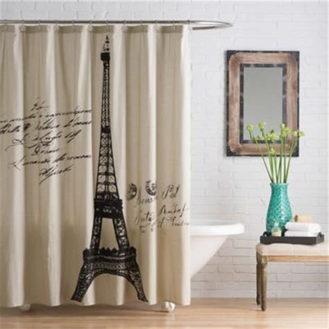 parisian shower curtain buy paris curtains from bed bath beyond