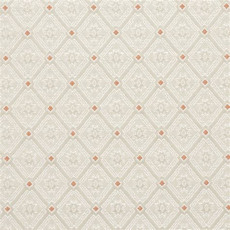 coral coral and white small heirloom brocade