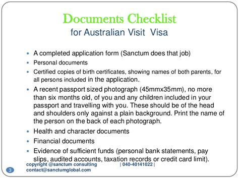 Bank Letter For Tourist Visa Australian Visit Visa Sanctum Consulting