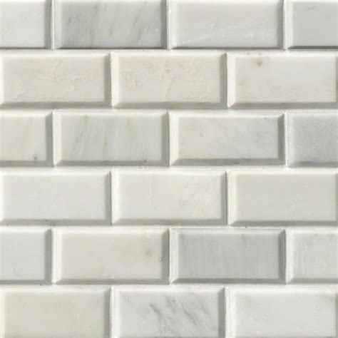 subway tile greecian white subway tile beveled 2x4