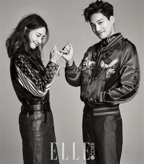 blackpink elle magazine yoona and kai make a promise in more photos for elle