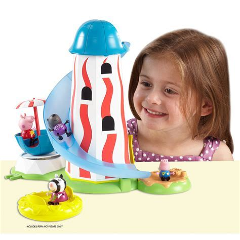 Peppa Pig Theme Park Helter Skelter   Animal Toys & Play Sets