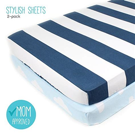 Pack N Play Bedding Sets Pack N Play Playard Sheet Set 2 Pack Fitted Soft Jersey Cotton Portable Crib Sheet Baby