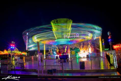 south florida lights south florida fair purple light trails from ride