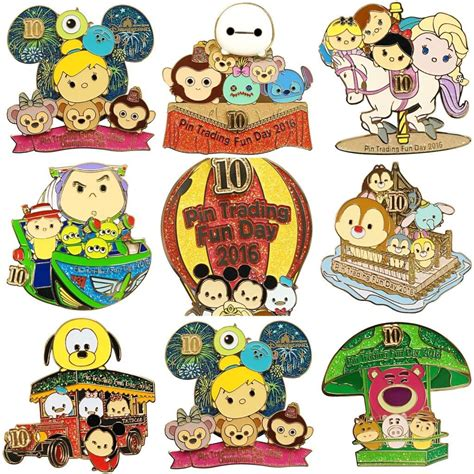 Tsum Tsum New new tsum tsum pins at pin trading days 2016 omg the