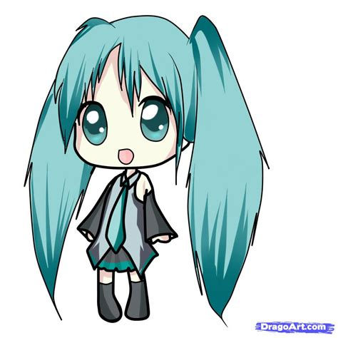 How To Draw Chibi Miku Step By Step Chibis Draw Chibi