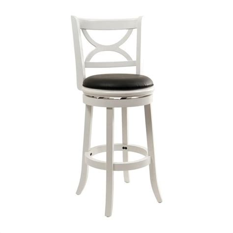 Distressed Bar Stools by Boraam Florence 29 Quot Swivel Distressed White Bar Stool Ebay