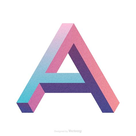 Isometric Letter A Typography Vector Design - Download ... A