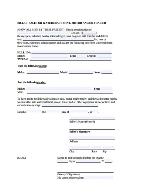 bill of sale boat motor kays makehauk co