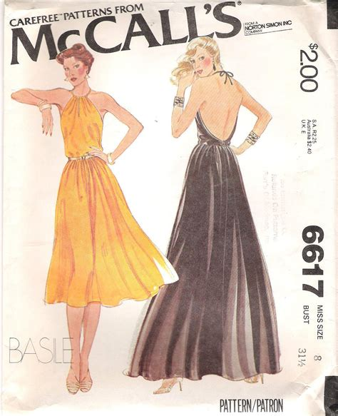 pattern halter dress retro backless halter dress sewing pattern by basile