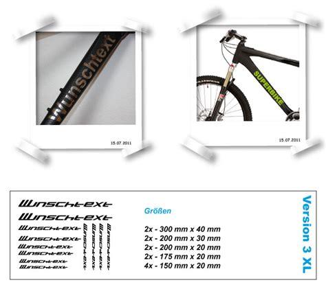 Weiße Aufkleber Zum Beschriften by Aufkleber Wunschtext Beschriftung Text Rahmen Fahrrad