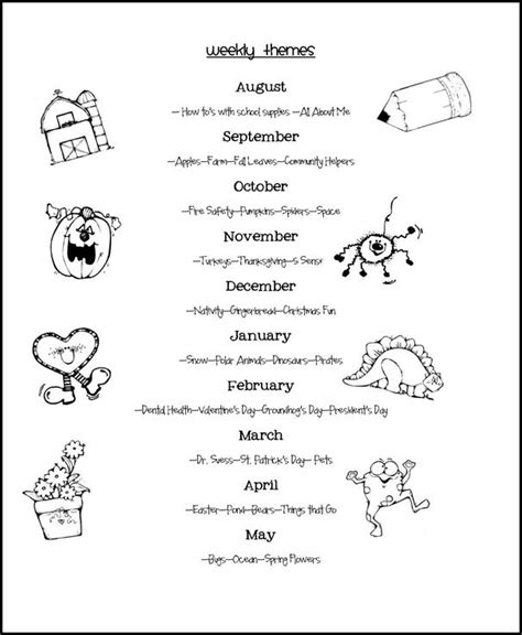 sahifa theme read more weekly themes class kids pinterest daycare themes